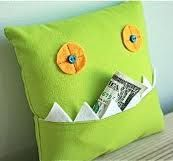 monster toothfairy pillow