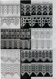 Easiest Crochet Frills Border Ever! Crochet Border Patterns, Crochet Lace Edging, Crochet Lace Dress, Crochet Diagram, Crochet Chart, Lace Patterns, Crochet Trim, Stitch Patterns, Knit Crochet