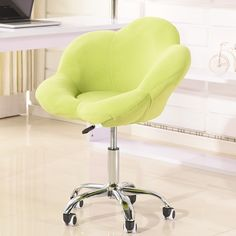 Lovely Sweet Petal Flower Comfortable Swivel Fabric Leisure Office Chair 3 Colors