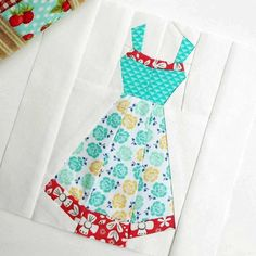 Here is block 28 without the spool and needle.  Love, love, love Charise Creates' little pattern.