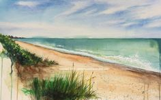 Melbourne Beach, Florida ORIGINAL Watercolor by Artist, Kevin-John Jobczynski