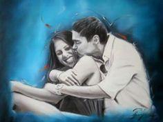 Custom Couple iortrait from Photo Fine Art Commission