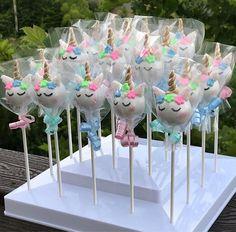 Unicorn Themed Cake Pops