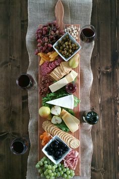 42 Inch- Extra Large Wooden Serving Platter- Cheese Board- i.- 42 Inch- Extra Large Wooden Serving Platter- Cheese Board- in Oak- by Red Maple Run- Cutting Board- Gift for Foodie image 1 - Wooden Serving Platters, Charcuterie And Cheese Board, Cheese Boards, Cheese Platters, Party Platters, Cheese Table, Appetisers, Food Presentation, Appetizer Recipes