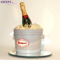 Balde de Gelo | Esculpido | bolo bebida | Grãos de Açúcar - Bolos decorados - Cake Design