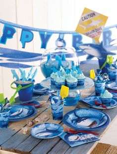 Under the sea themed party!  Shark Breaker.  So pretty love the colors!