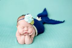 Newborn Mermaid Image Only* If I ever had a girl this pose/image/prop is an absolute must!