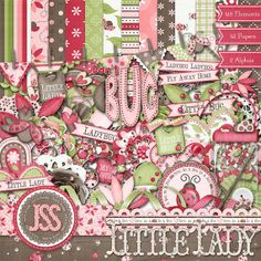 Little Lady Digital Scrapbook Kit  Digital by JssScrapBoutique, $4.99