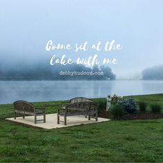 We're staying near this beautiful lake in North Carolina this week. In the morning the mist hangs low and the geese honk as the day breaks open anew. This lake is reminding me of another lake one that Jesus walked and taught those eager to listen and called others to follow him. These are a few things I'm contemplating on the blog today. #lake #northcarolina #bloggersofinstagram #nature #serene #traunquil #landscape #goodwords