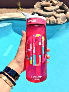Lilly Pulitzer monogram on a Camelbak water bottle ... Preppy