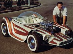 Ed Roth's Beatnik Bandit -From the man who drew the original Rat Fink T Shirts, car was controlled and driven by one control stick.