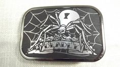 Deadly Spider Belt Buckle, Vintage Arachnida of the Metal Kind Novelty Buckle of the Oddity Persuasion! by OutrageousVintagious on Etsy