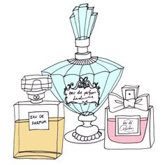 Just a quick little sketch of some perfume bottles.
