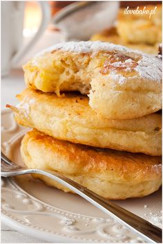 Pancakes with apple and banana / RACUCHY Z JABŁKAMI I BANANEM - ilovebake.pl