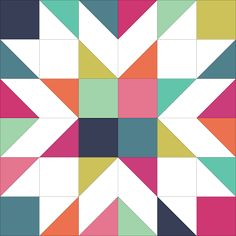 """Giant Starburst Quilt Along (finished quilt is 60"""" x 60"""")
