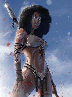 Ideas For Fantasy Art Warrior Women Illustrations Black Love Art, Black Girl Art, Black Is Beautiful, Art Girl, Art Manga, Art Anime, Warrior Princess, Fantasy Anime, Fantasy Art