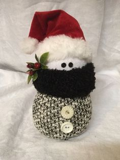 Sock Snowman made out of old socks