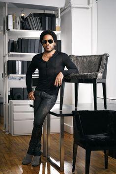 Lenny Kravitz at his Kravitz Design Studio in NYC