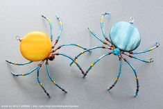 Listing is for 2 Spiders as a pair Sun Sea Christmas Spider w Holiday Legendjewelry beaded Beaded things - Out of the Ordinary Photography - Out of the Ordinary Photography Beaded Crafts, Beaded Ornaments, Wire Crafts, Jewelry Crafts, Bead Jewellery, Wire Jewelry, Jewelry Art, Beaded Jewelry, Handmade Jewelry