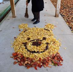It's Winnie the Pooh. in a pile of leaves. High af this made me smile so therefore pinning it 📌 Arte Disney, Disney Love, Disney Magic, Disney Memes, Disney Quotes, Disney Films, Disney And Dreamworks, Disney Pixar, Disney Mignon