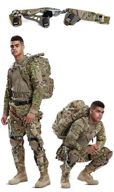 Army & Marines To Trial The PowerWalk Kinetic Energy Harvester Tactical Armor, Tactical Wear, Tactical Pants, Tactical Clothing, Military Gear, Military Weapons, Powered Exoskeleton, Exoskeleton Suit, Combat Gear