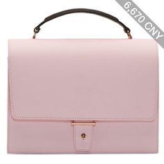 Pb 0110 Pink Leather Shoulder Bag