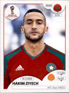Hakim Ziyech - Morocco Neymar, Messi, World Cup Russia 2018, World Cup 2018, Fifa World Cup, Sport Football, Soccer, America Album, Football Updates