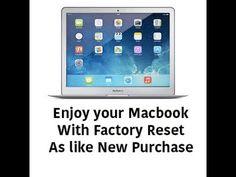 How to Factory reset Macbook(2015-16)
