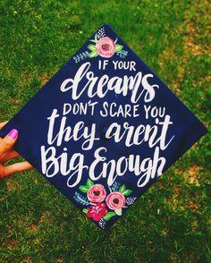 Painted graduation cap by Chera Creative  Instagram:Cheracreative #graduationcap #paintedgraduationcap