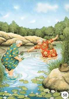 Risultati immagini per inge look Art And Illustration, Old Lady Humor, Nordic Art, Image Originale, Naive Art, Whimsical Art, Old Women, Illustrators, Folk Art