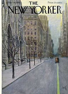 size: Premium Giclee Print: The New Yorker Cover - March 16 Wall Art by Arthur Getz : The New Yorker, New Yorker Covers, Old Magazines, Vintage Magazines, Vintage Posters, Vintage Art, Magazine Art, Magazine Covers, New Yorker Cartoons