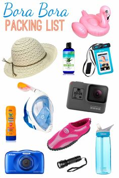 Bora Bora Packing List - Wondering what to bring to islands of French Polynesia? We got you covered, here are the items we recommend. via @boraboraphotos