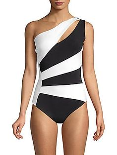 2770e147166 Chiara Boni La Petite Robe Ani One-Shoulder One-Piece Swimsuit