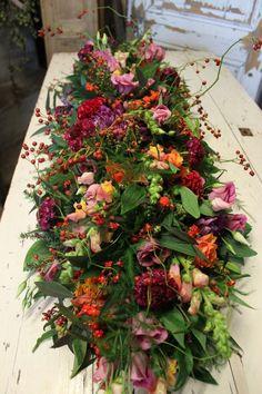 Casket Flowers, Funeral Flowers, Wreath Crafts, Flower Crafts, Grave Decorations, Bright Pink, Pink Roses, Floral Arrangements, Orchids