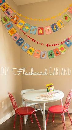 DIY Flashcards Garland