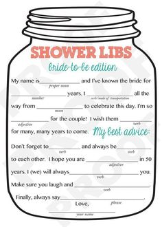 Free Printable Mason Jar Bridal Shower Invitations