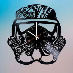 Stormtrooper Star Wars Handmade Vinyl Record Wall Clock Fan Gift - VINYL CLOCKS