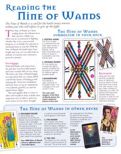 Reading the nine of wands