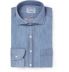 Drake's Blue Denim Shirt