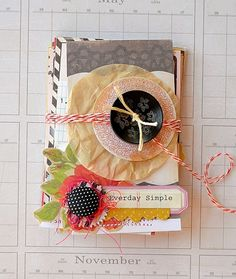 Mini book created by Tara Anderson using Crate Paper and other odds and ends.