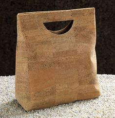"""Cork Handbag with magnetic snap closure and two interior pockets. 11 7/8""""x11""""x 4 3/8"""", Reg. $94, sale $56, Art Inst Chicago"""