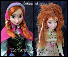 Disney and classic cartoon OOAK dolls Arte Disney, Disney Fan Art, Disney Magic, Disney Frozen, Ana Frozen, Tinkerbell Disney, Disney Pics, Disney Barbie Dolls, Frozen Dolls