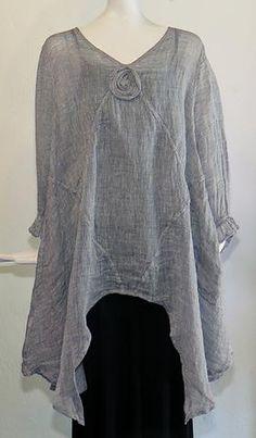 Cheyenne - Asymmetrical Linen Tunic