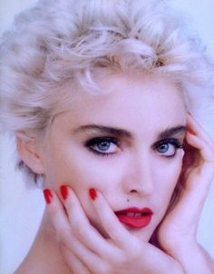 """Madonna during her """"Who's That Girl?""""  movie phase"""