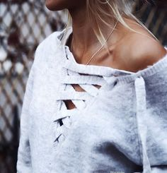 lace up sweaters