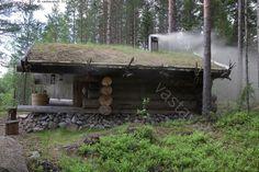 The smoke sauna - Finland Sauna Design, Cabin Design, Saunas, Sweat Lodge, Outdoor Sauna, Finnish Sauna, Dream Properties, Small Buildings, Outdoor Survival