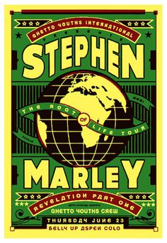 Love This : Scrojo Stephen Marley Poster Rock Posters, Band Posters, Concert Posters, Music Posters, Reggae Mix, Stephen Marley, Reggae Artists, Music Tattoos, Poster Pictures