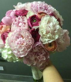 Peonies, Ranunculus and Hydrangeas #BridalBouquet #MadebyOxana