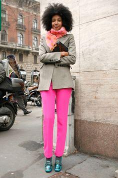hot pink pants