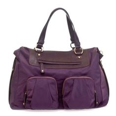 TWELVElittle Allure Convertible Satchel Diaper Bag in Plum - buybuyBaby.com